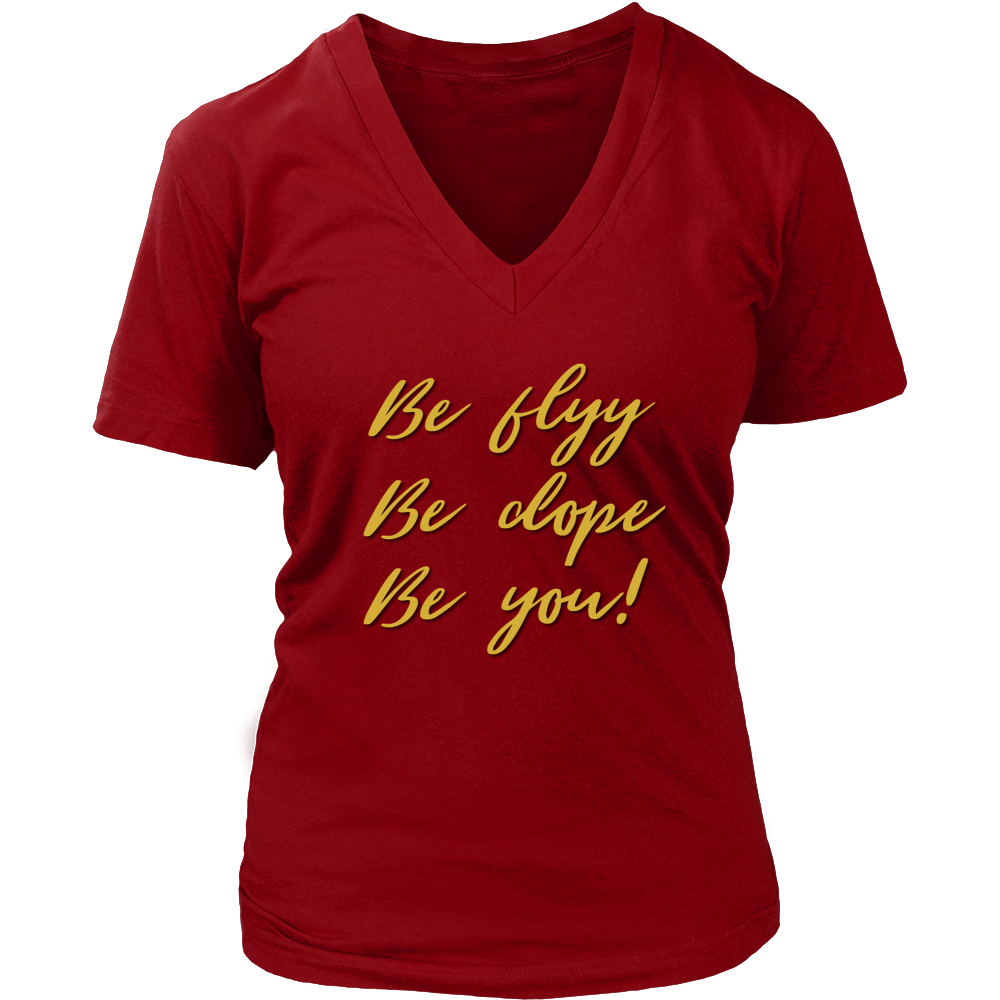 (Be Flyy) Women's V-Neck T-Shirt