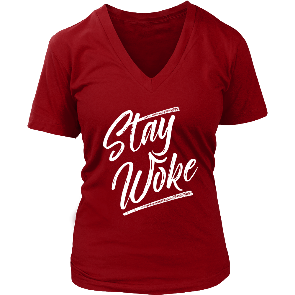 (Stay Woke) District Womens V-Neck