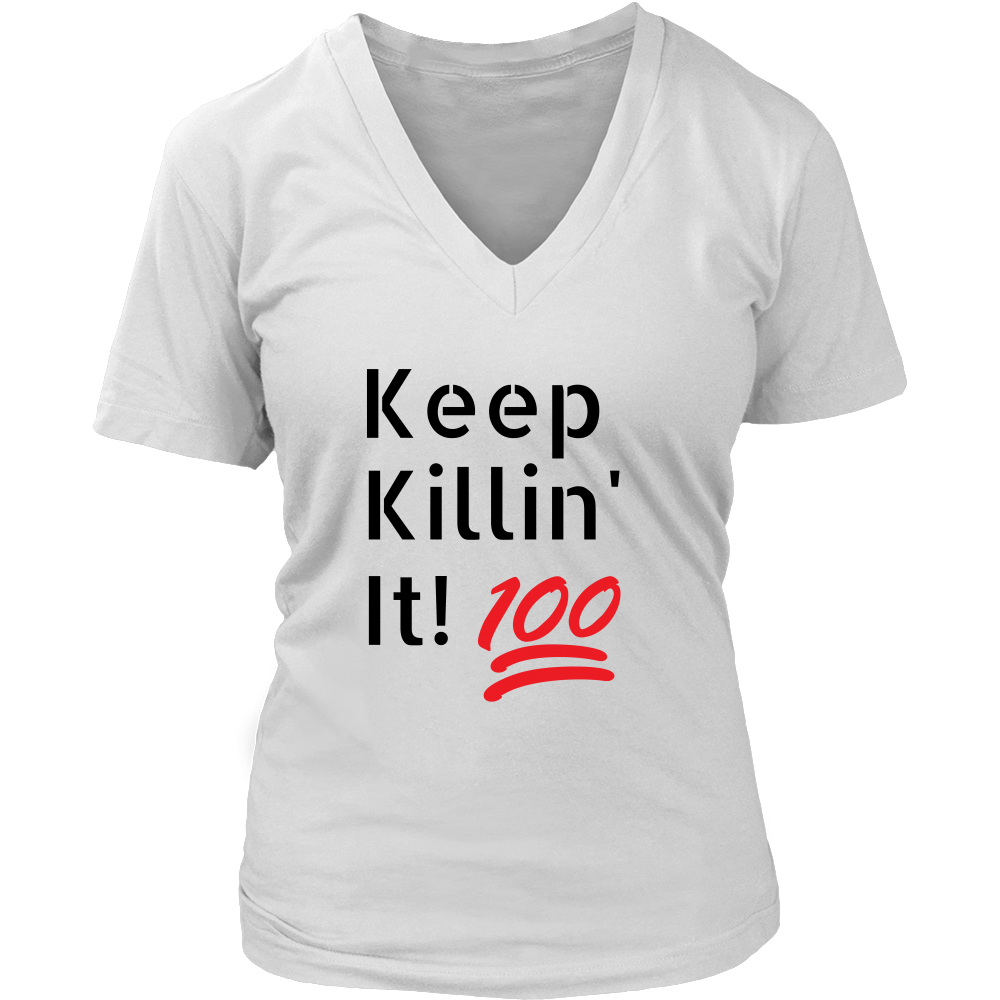 [Killin' It] Women's V-neck T-shirt