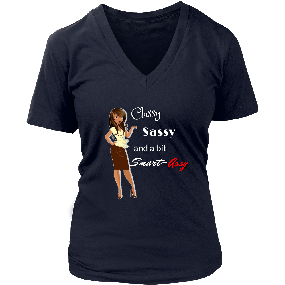 (Sassy) Women's V-neck T-shirt