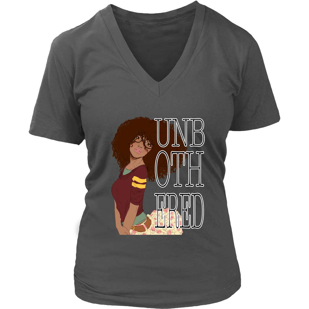 (Unbothered 4) Women's V-Neck T-Shirt