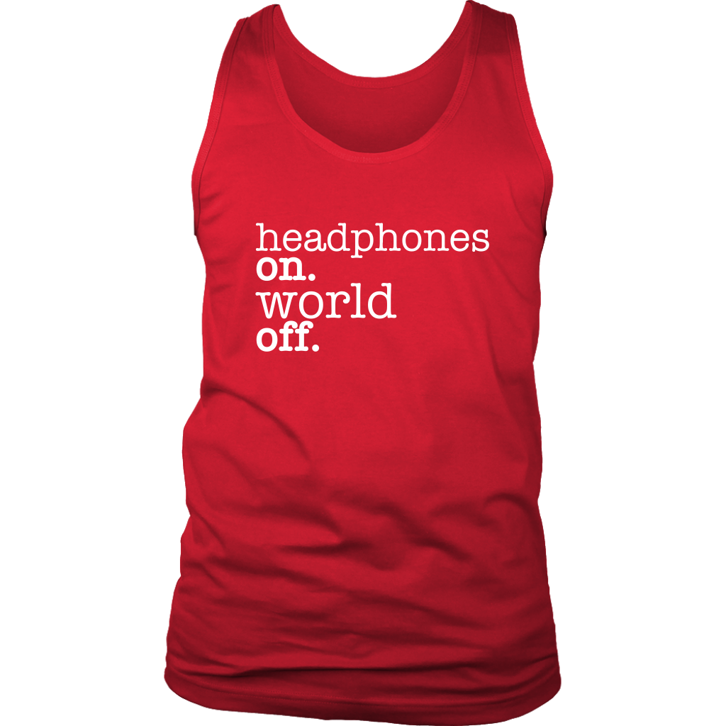 (Headphones On) District Men's Tank