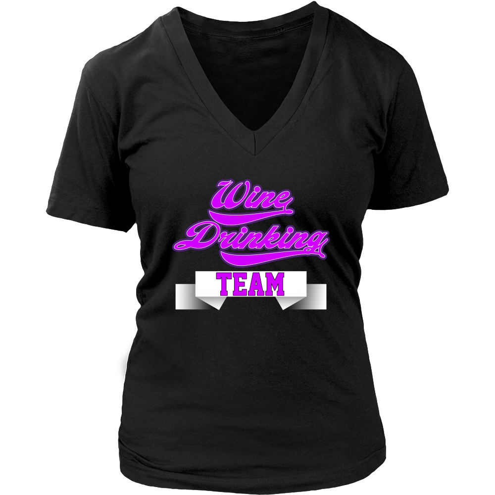 (Wine Team) District Womens V-Neck