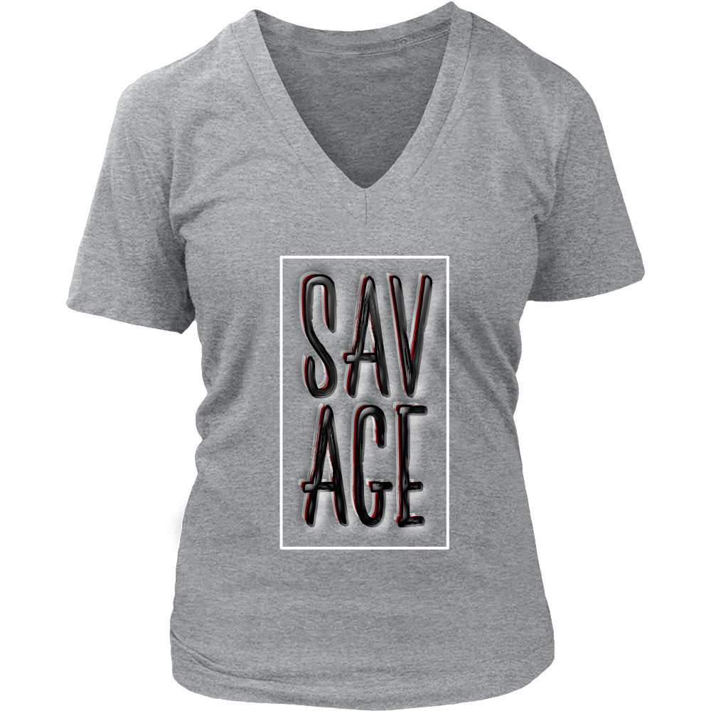 (Savage) Women's V-Neck T-Shirt