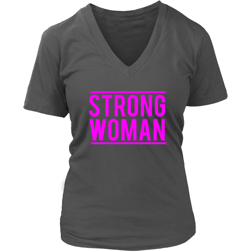 (Strong Woman) Women's V-Neck T-Shirt