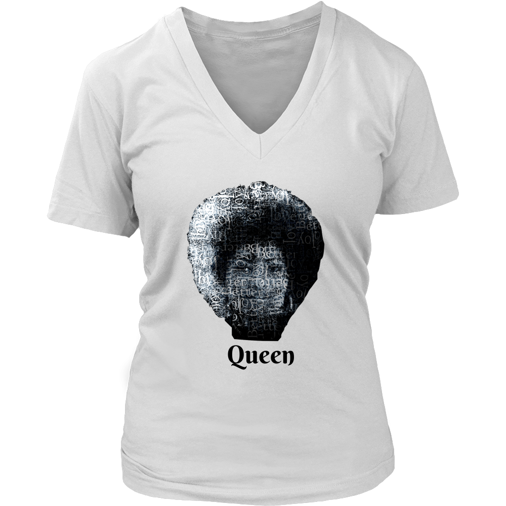 (Queen) Women's V-Neck T-shirt