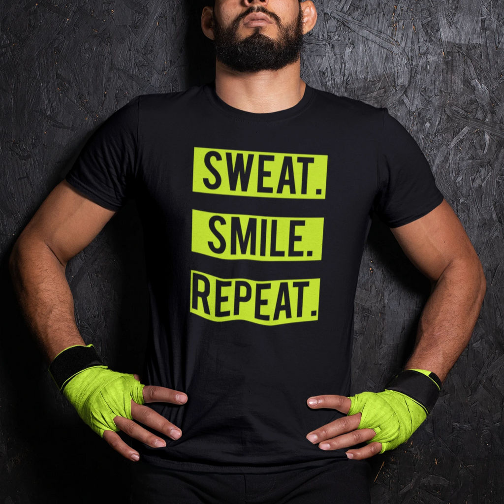 (Sweat Smile Repeat) Men's Lightweight Fashion Tee