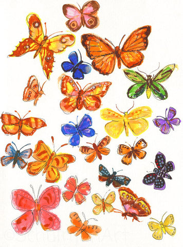 Butterflies, ORIGINAL Art  | Butterfly Art | Butterfly Decor | Butterfly Wall Art