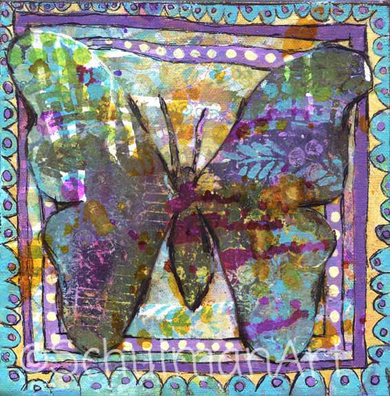 Butterfly Magic, Original Mixed Media Art
