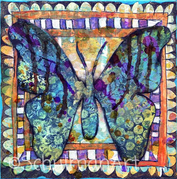 Butterfly Mystery, Original Mixed Media Art