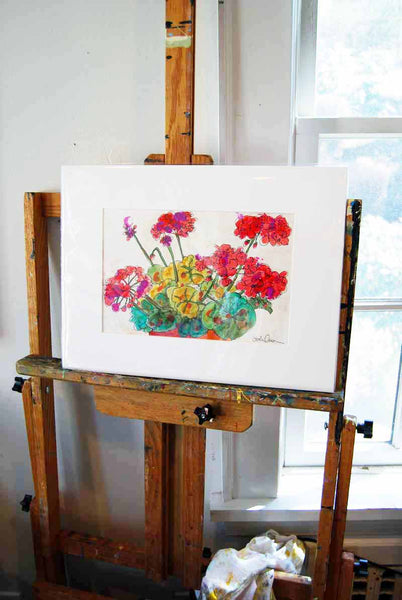 Geraniums of Jerusalem, Original Watercolor Art | Flower Art | Floral Art