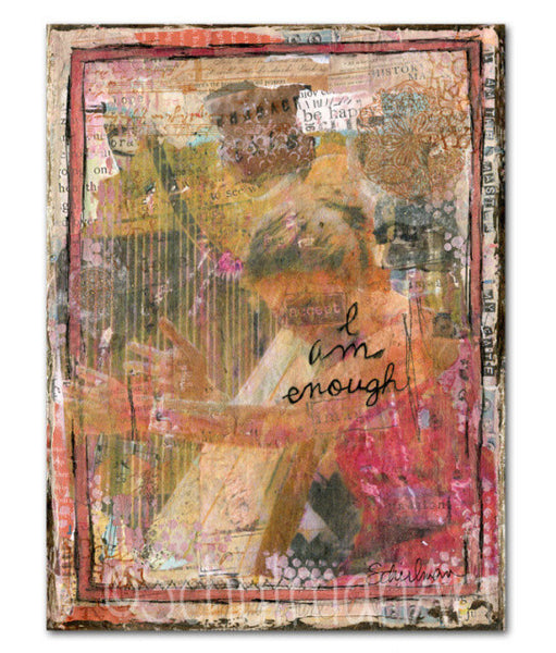 I Am Enough, Original Mixed Media Art