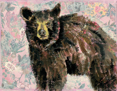 Mama Bear, Original Mixed Media Art 11x14""