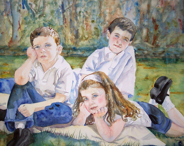 Custom Watercolor Family Portrait