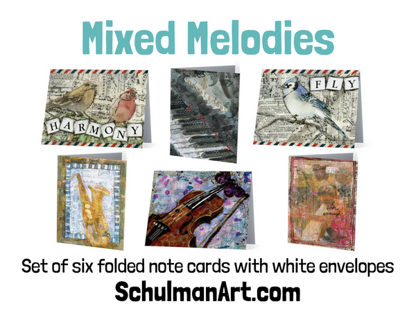 Mixed Melodies Note Cards
