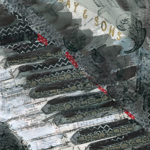 Piano Passion, Original Mixed Media Art