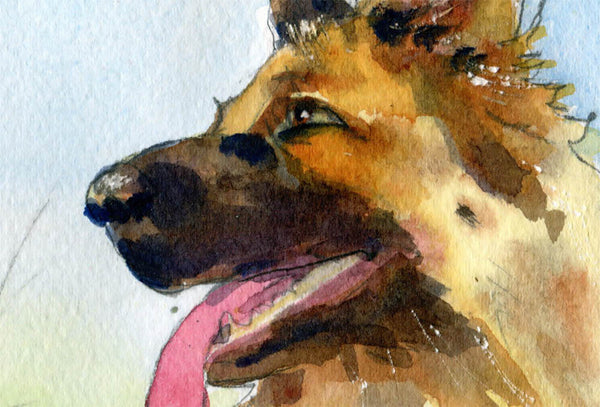 Rin Tin Tin, Original Watercolor
