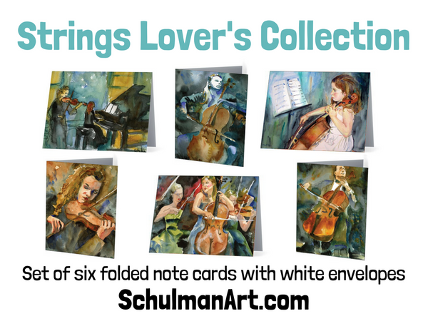 String Lover's Collection Note Cards