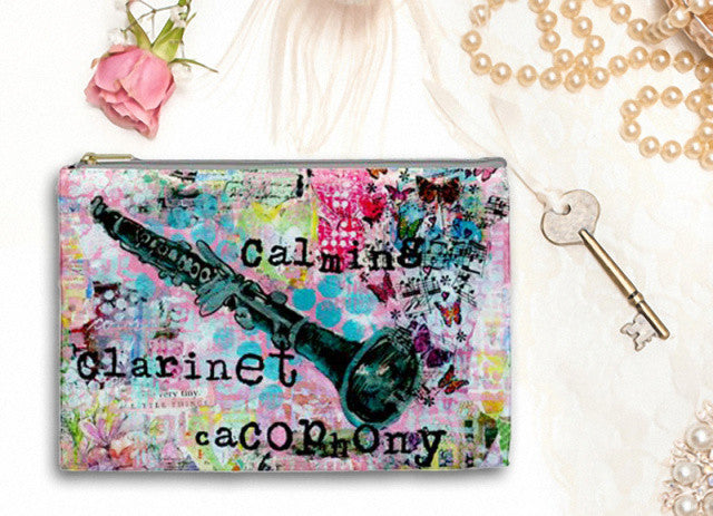 Clarinet Cacophony Cosmetic Bag