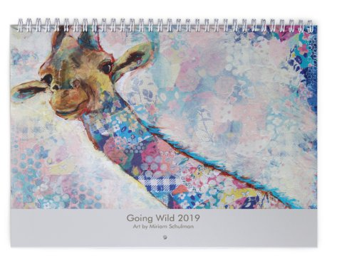 "Wildlife Animals 2019 Art Calendar  | ""Going Wild"" Wall Calendar by Miriam Schulman"