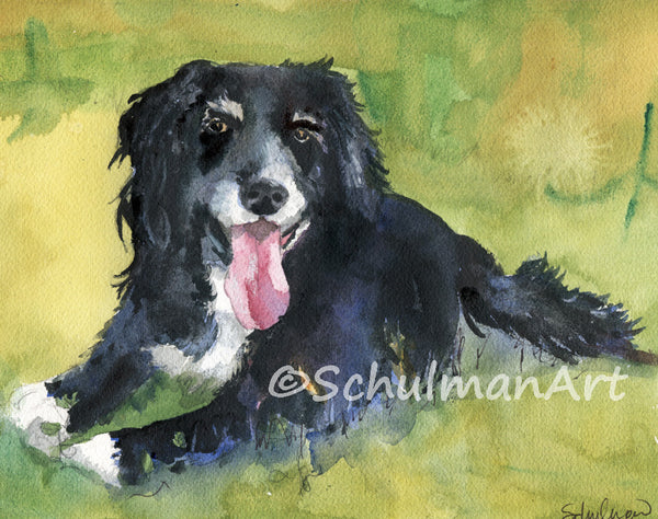 Custom Watercolor Dog Portrait