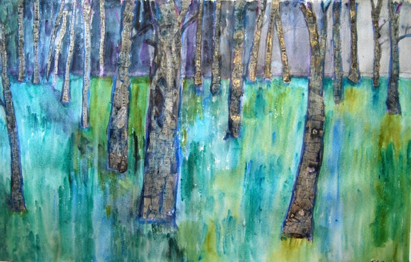 See the Forest Through the Music, Original Mixed Media Art