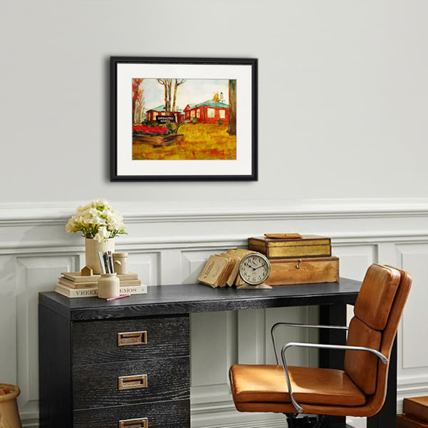 Greenacres School, Scarsdale New York, Fine Art Print