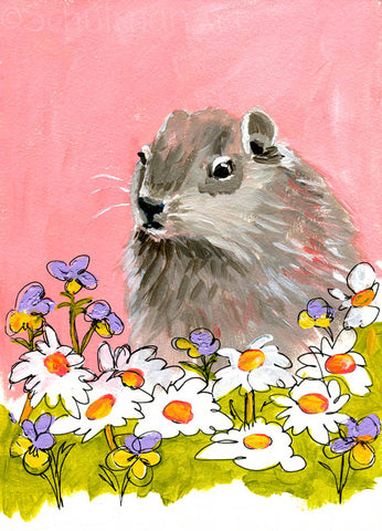 #24 Groundhog garden | Original Mixed Media Art