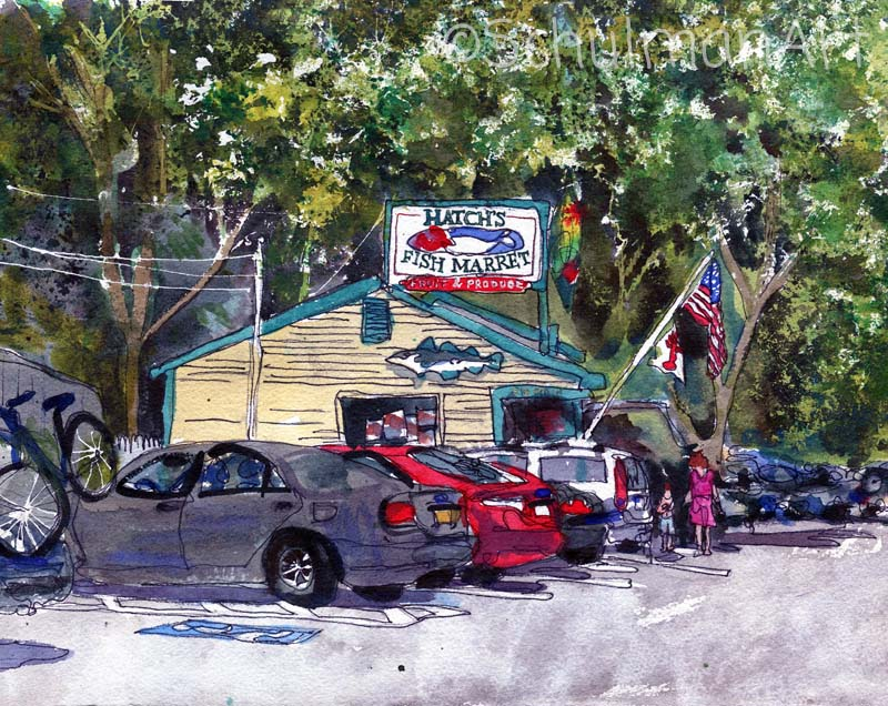 Hatch's Fish Market, Fine Art Print