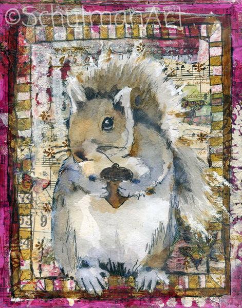 What a Nut, Fine Art Print