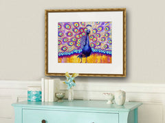 Radiant Peacock, Fine Art Print