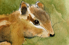 Chipmunk painting | woodland creature