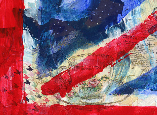 Union Jack Flag, Original Mixed Media Art