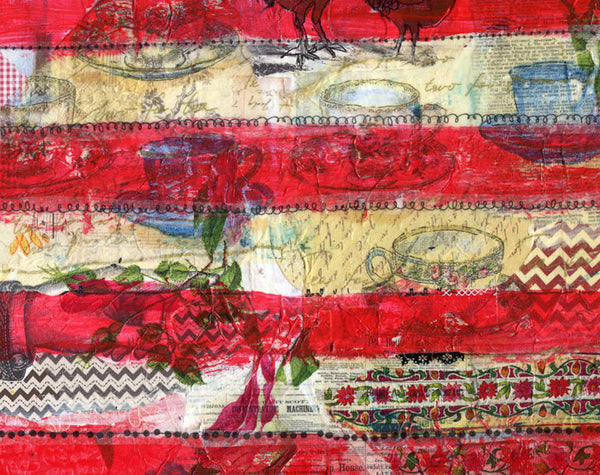 Stars and Stripes, Original Mixed Media Art