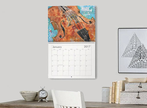 2017 Musical Mixed Media Calendar