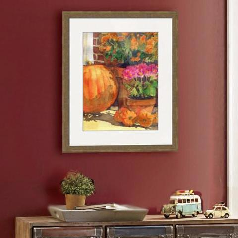 Pumpkin Painting, Fine Art Print
