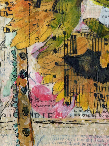 Beethoven Bouquet, Original Mixed Media Art