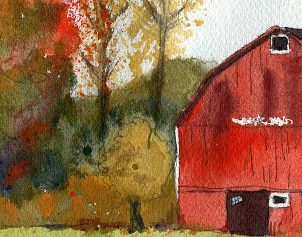 Autumn Barn, Fine Art Print