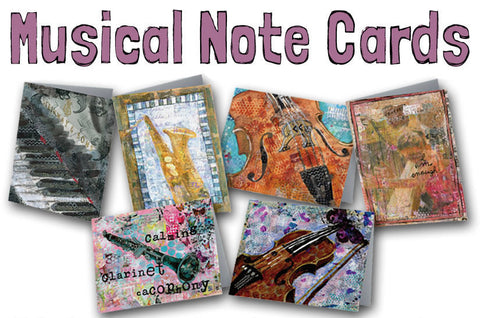 Musical Note Cards