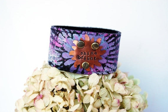 """Shine Bright"" Leather Cuff"