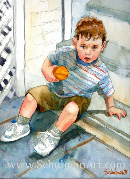 Watercolor Baby Portrait
