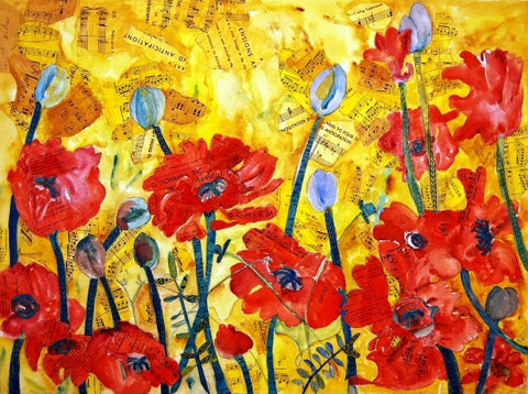 Anticipation Poppies, Fine Art Print