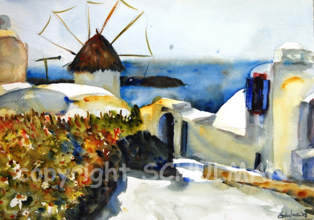 Mykonos Greece, Fine Art Print