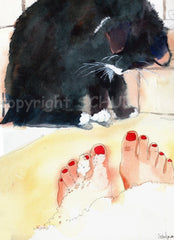 Ebony's Bubble Bath, Fine Art Print