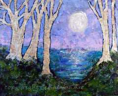 Moonlight Sonata, Original Mixed Media Art