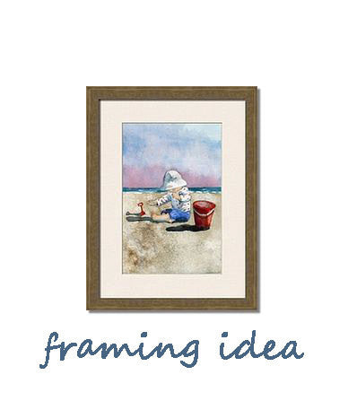 Beach Play, Fine Art Print