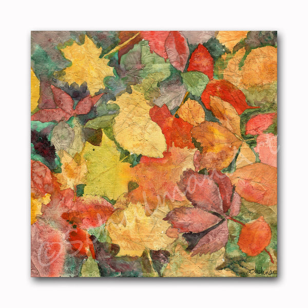 Autumn Leaves, Original Watercolor Art
