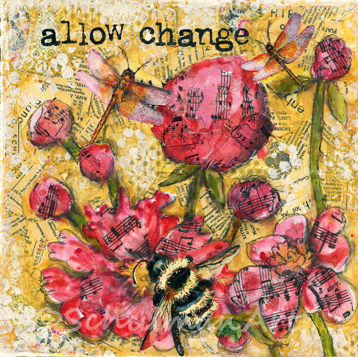 Allow Change, Original Mixed Media Art