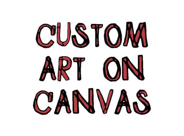 commission a custom art on canvas painting