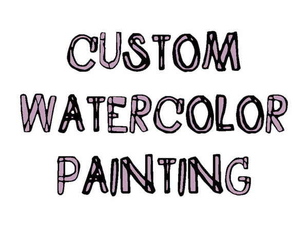 commission a watercolor painting from your photo